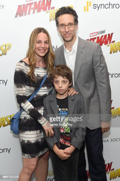 Lauren Greilsheimer and Ben Shenkman attend the 'AntMan And The Wasp' New York Screening at Museum of Modern Art on June 27 2018 in New York City
