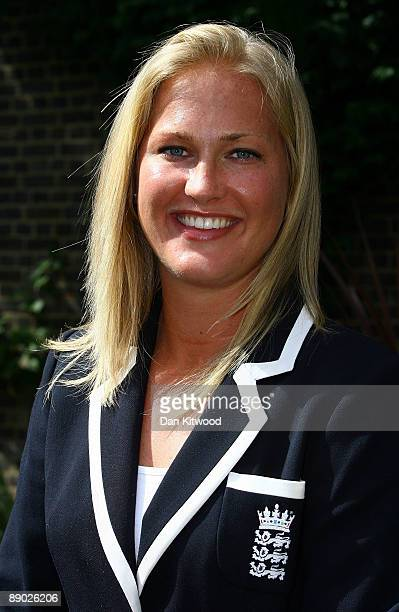 Lauren Griffiths of the England Women's Cricket Team poses for a picture at Downing Street on July 14 2009 in London England England retained the...