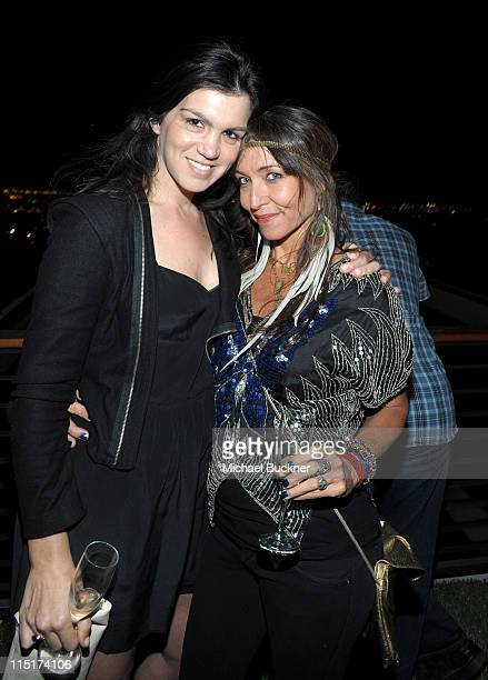 Lauren Gropper and Madga Rod attend SHFTcom's Double Webby win celebration at the Greenberg House on June 2 2011 in Los Angeles California
