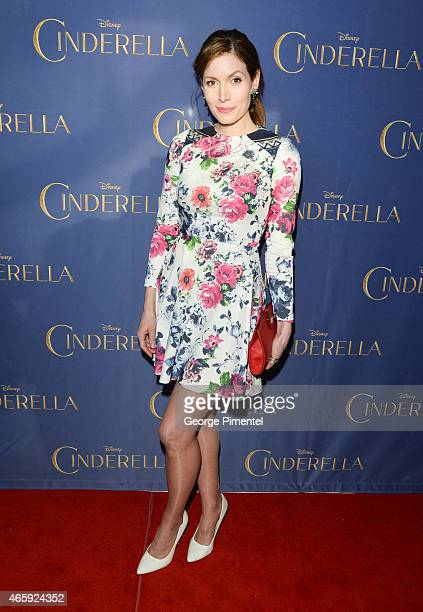 Lauren Hammersley attends the Toronto Special screening of Disney's 'Cinderella' held at Scotiabank Theatre on March 11 2015 in Toronto Canada