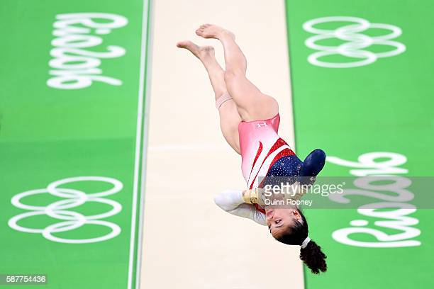 Lauren Hernandez of the United States competes on the vault during the Artistic Gymnastics Women's Team Final on Day 4 of the Rio 2016 Olympic Games...
