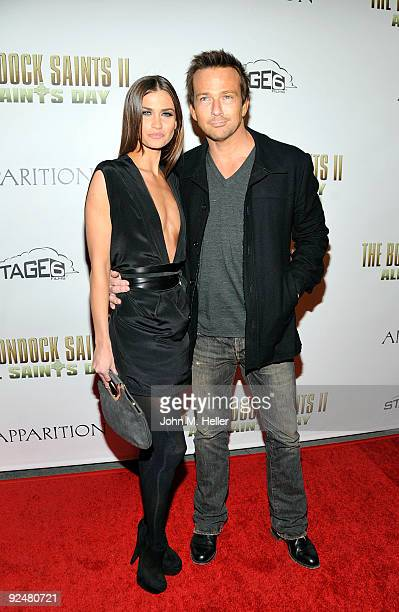 Lauren Hill and actor Sean Patrick Flanery attend the premiere of The Boondock Saints II All Saints Day at the Arclight Theaters on October 28 2009...