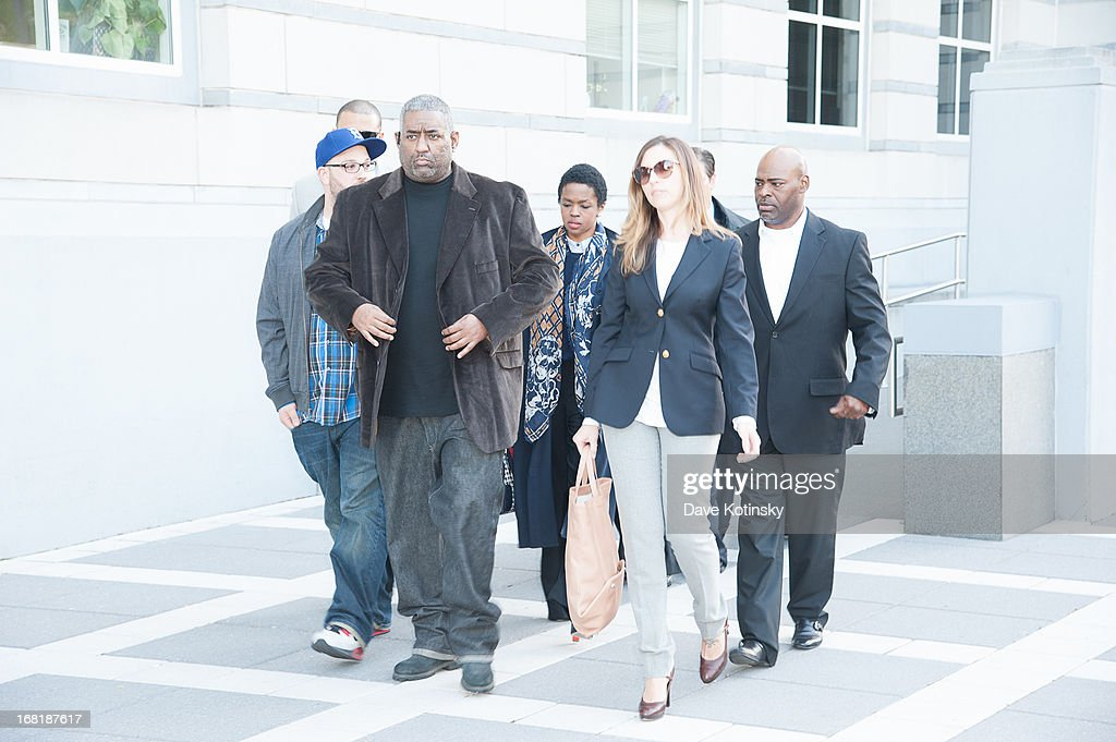 Lauren Hill departs the court on May 6, 2013 in Newark, New Jersey. Hill plead guilty to tax evasion charges in June 2012 for failure to pay federal taxes on $1.8 million earned from 2005-2007. She faces a maximum one-year jail sentence for each of the three accounts. The sentencing date was postponed from April 22nd.