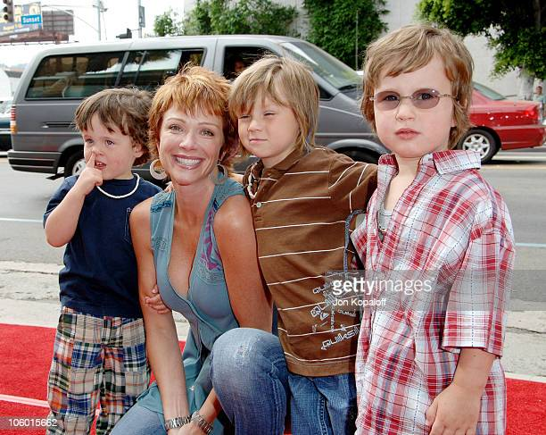 Lauren Holly and kids during Barnyard Los Angeles Premiere Arrivals at Cinerama Dome in Hollywood California United States