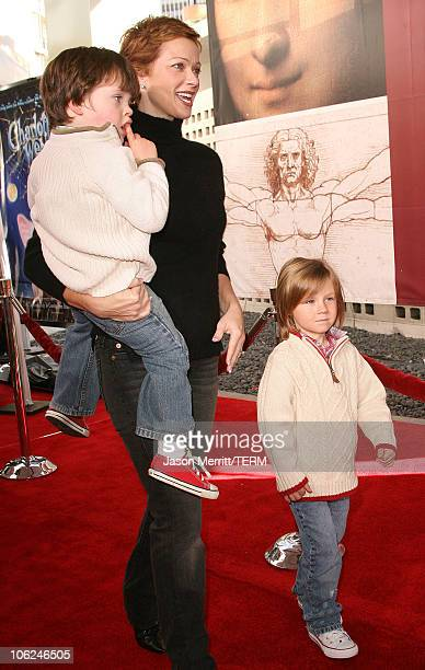 Lauren Holly and son Henry during Charlotte's Web Los Angeles Premiere Arrivals at ArcLight Theatre in Hollywood California United States