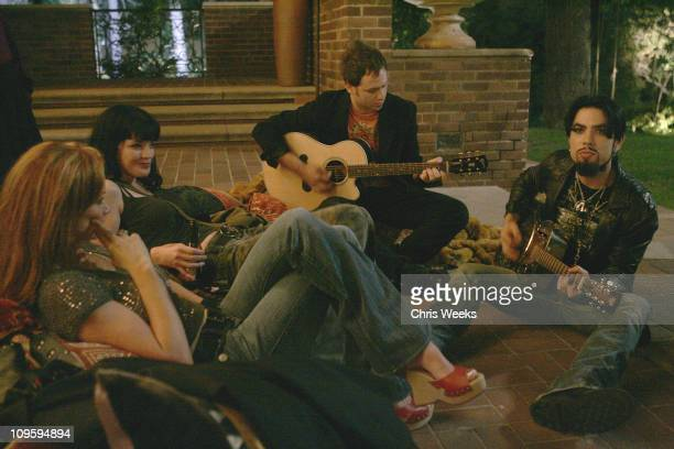 Lauren Holly Pauley Perrette and Dave Navarro during Belvedere Vodka Hosts the Second Rock Star INXS Mansion Jam at Private Residence in Los Angeles...