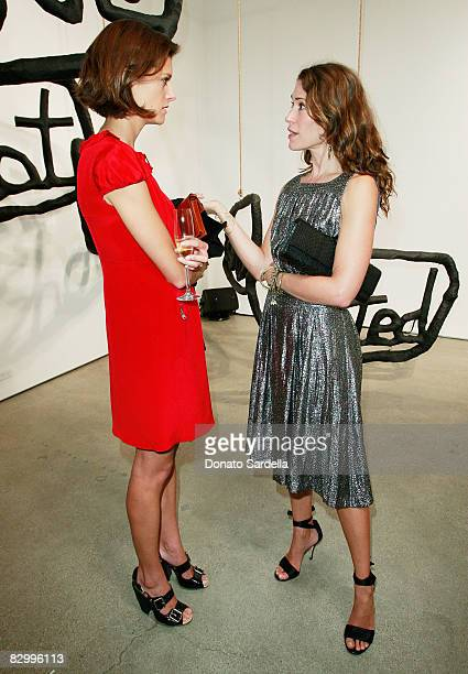 Lauren Howell and Liseanne Frankfurt attend a dinner hosted by Vogue and Mulberry celebrating the work of Alexandra Grant on display at the 'Some...