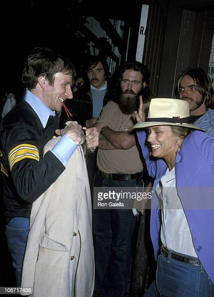 Lauren Hutton and guest during Celebrity Sightings at Dire Straits Concert March 29 1979 at The Roxy in Los Angeles California United States