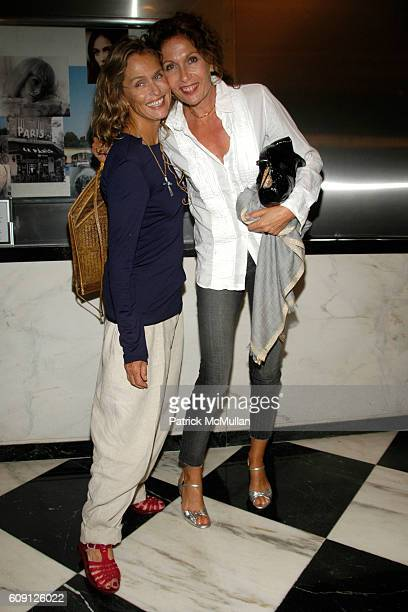 Lauren Hutton and Jacqueline Schnabel attend CHANEL & PICTUREHOUSE SCREENING OF LA VIE EN ROSE at Paris Theater on May 31, 2007 in New York City.