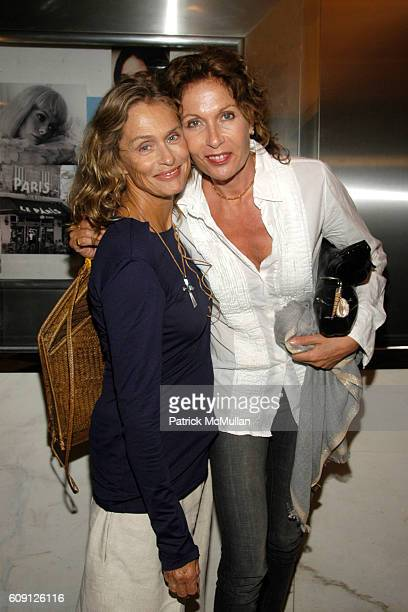 Lauren Hutton and Jacqueline Schnabel attend CHANEL PICTUREHOUSE SCREENING OF LA VIE EN ROSE at Paris Theater on May 31 2007 in New York City