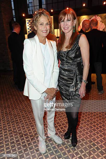 Lauren Hutton and Nicole Miller attend the 22nd annual Artists for Africa benefit at The Bowery Hotel on April 23 2013 in New York City