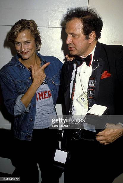 Lauren Hutton and Ron Galella during Lauren Hutton Opens in 'Extremities' at Coronet Theater in Los Angeles California United States