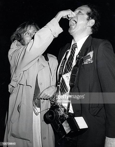 Lauren Hutton and Ron Galella during 'Starflight' Los Angeles Premiere at The Academy Theater in Beverly Hills California United States
