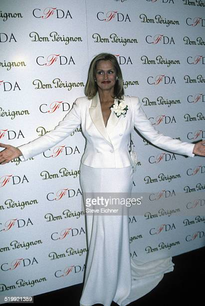 Lauren Hutton at CFDA awards at Lincoln Center New York New York February 3 1997