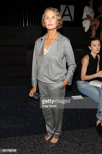 Lauren Hutton attends the Alexander Wang fashion show during MercedesBenz Fashion Week Spring 2015 at Pier 94 on September 6 2014 in New York City