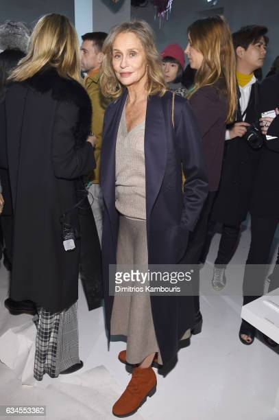 Lauren Hutton attends the Calvin Klein Collection Front Row during New York Fashion Week on February 10 2017 in New York City