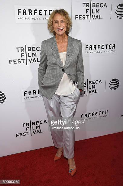 Lauren Hutton attends the 'First Monday In May' world premiere during the 2016 Tribeca Film Festival opening night at BMCC John Zuccotti Theater on...