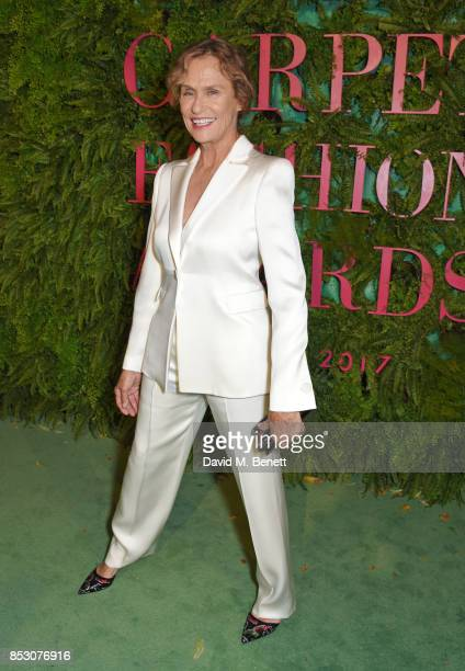 Lauren Hutton attends the Green Carpet Fashion Awards Italia wearing Giorgio Armani for the Green Carpet Challenge at Teatro Alla Scala on September...