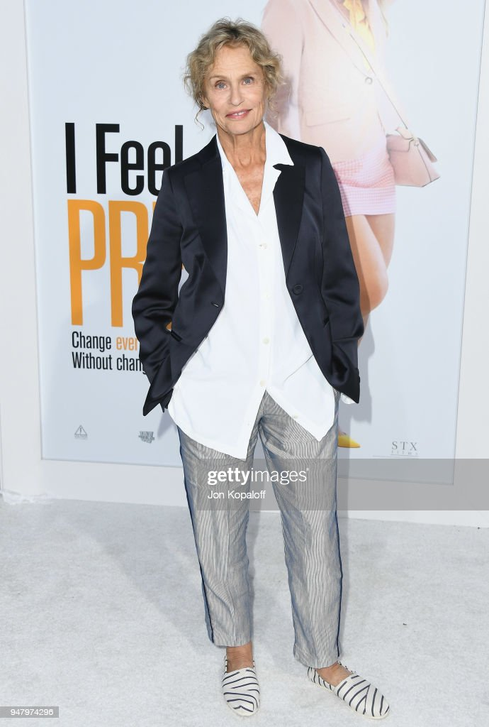 Lauren Hutton attends the premiere of STX Films' 'I Feel Pretty' at Westwood Village Theatre on April 17, 2018 in Westwood, California.