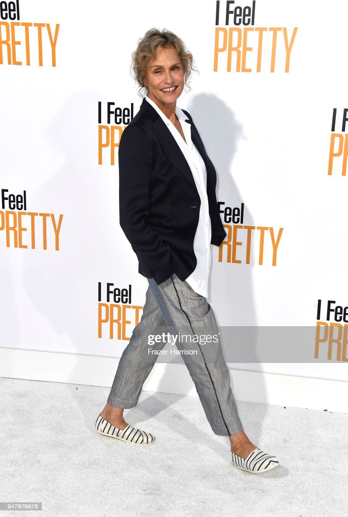 Lauren Hutton atttends the Premiere Of STX Films' 'I Feel Pretty' at Westwood Village Theatre on April 17, 2018 in Westwood, California.