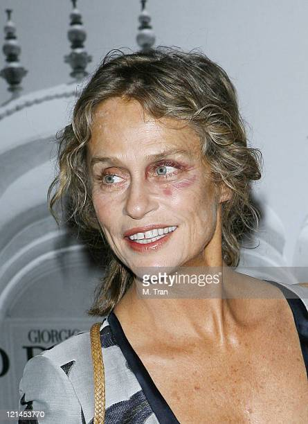 Lauren Hutton during Giorgio Armani Celebrates 2007 Oscars with Exclusive Prive Show at Green Acres Estates in Beverly Hills California United States