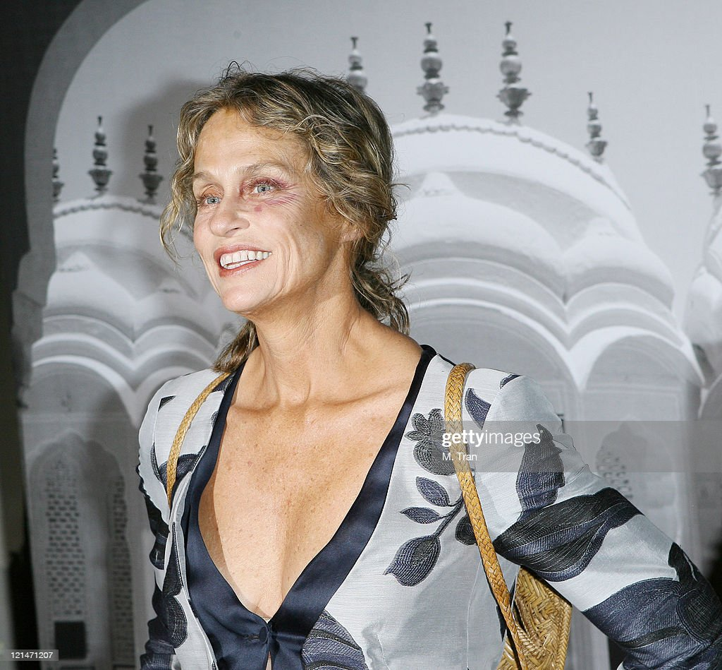 Lauren Hutton during Giorgio Armani Celebrates 2007 Oscars with Exclusive Prive Show at Green Acres Estates in Beverly Hills, California, United States.