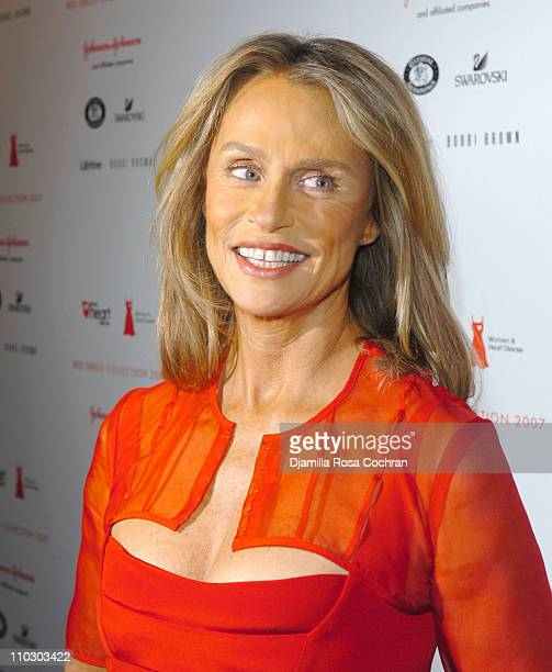 Lauren Hutton for Narciso Rodriguez during MercedesBenz Fashion Week Fall 2007 Heart Truth Red Dress Backstage at Bryant Park in New York City New...