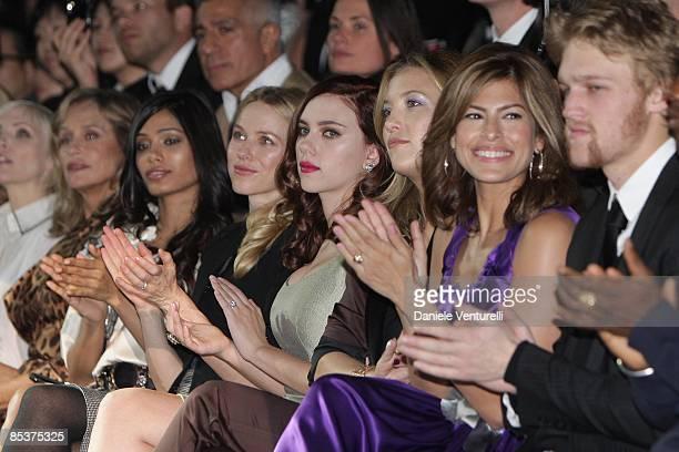 Lauren Hutton Freida Pinto Naomi Watts Scarlett Johansson Kate Hudson Eva Mendes and Wyatt Russell attend the Dolce Gabbana show during Milan Fashion...