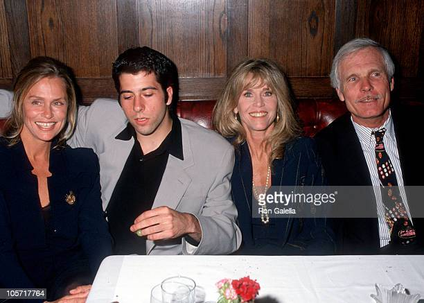 Lauren Hutton Jane Fonda Ted Turner and son during TBS' A Century of Women New York City Premiere at Hudson Theater in New York City New York United...