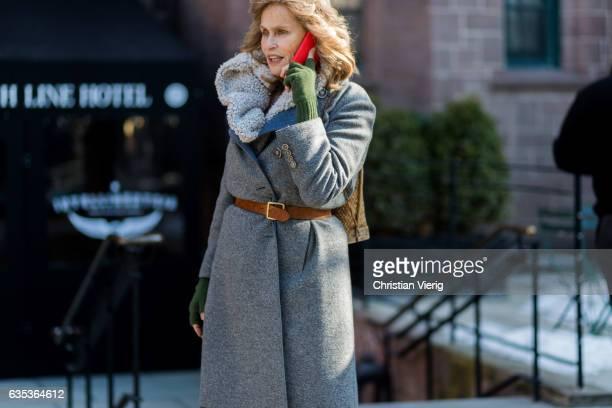 Lauren Hutton outside Gabriela Hearst on February 14 2017 in New York City