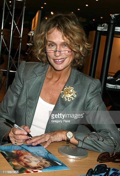 Lauren Hutton signing autographs and promoting her Rem Eyewear line