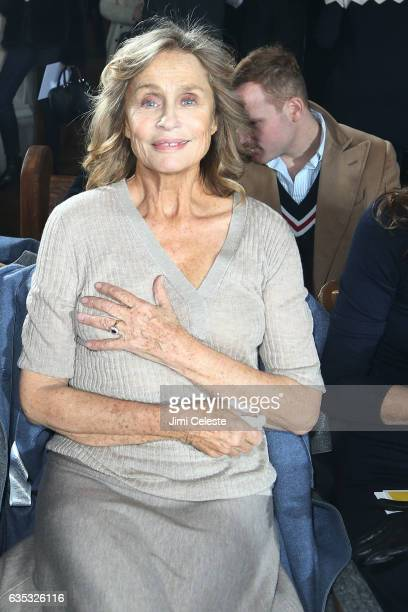 Lauren Hutton sits front row of the Gabriela Hearst show during New York Fashion Week at High Line Hotel The Refectory on February 14 2017 in New...