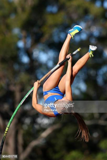 Lauren HydeCoooling competes in the women's pole vault during the Jandakot Airport Perth Track Classic at WA Athletics Stadium on January 13 2018 in...