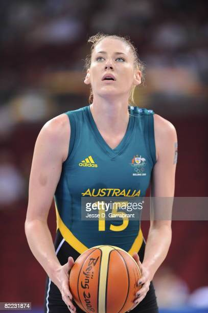 Lauren Jackson of Australia shoots against Belarus during day one of basketball at the 2008 Beijing Summer Olympics on August 9, 2008 at the Wukesong...
