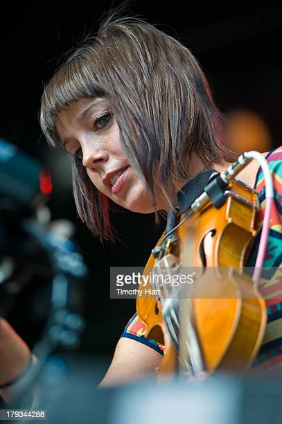 Lauren Jacobson of Ramona Falls performs at Bumbershoot at Seattle Center on September 1 2013 in Seattle Washington