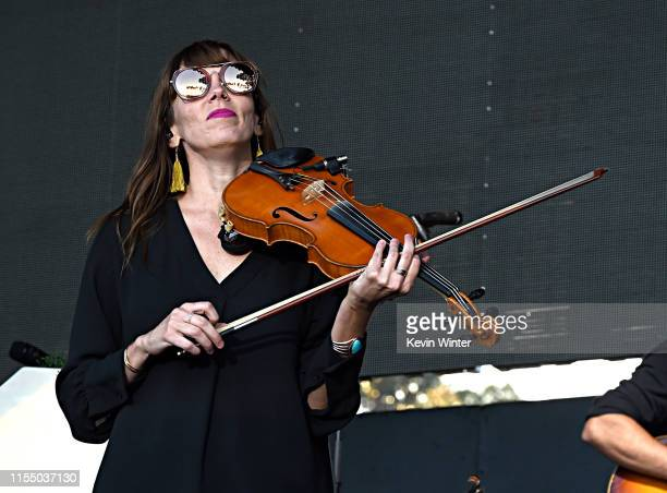 Lauren Jacobson of The Lumineers performs onstage at KROQ Weenie Roast Luau at Doheny State Beach on June 08 2019 in Dana Point California The...
