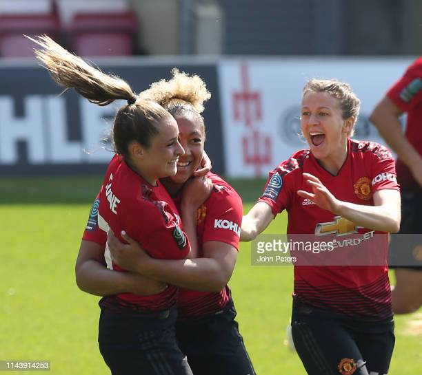 Lauren James of Manchester United Women celebrates scoring their first goal during the WSL match between Manchester United Women and Crystal Palace...