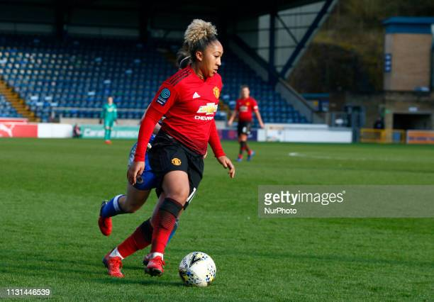 Lauren James of Manchester United Women during The SSE Womens FA Cup Quarter Final match between Reading FC Women and Manchester United Women at...