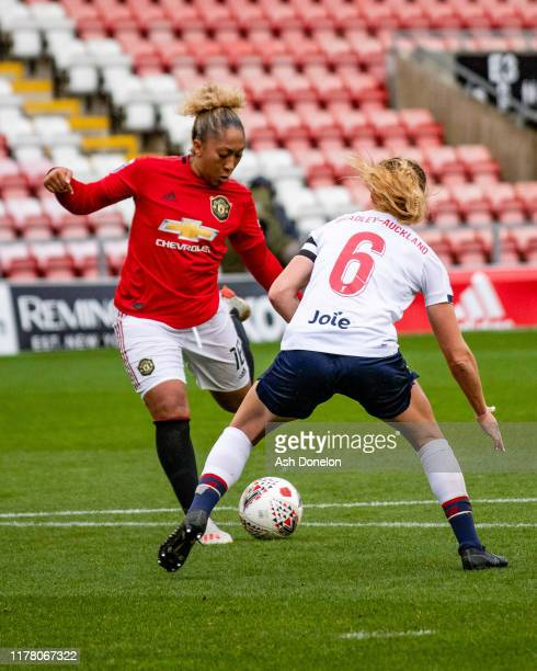 Lauren James of Manchester United Women in action during the Barclays FA Women's Super League match between Manchester United and Liverpool at Leigh...