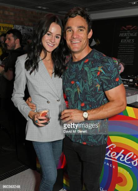 Lauren Jamieson and Max Evans attend Kiehl's 'We Are Proud' party to celebrate Pride on July 5 2018 in London England