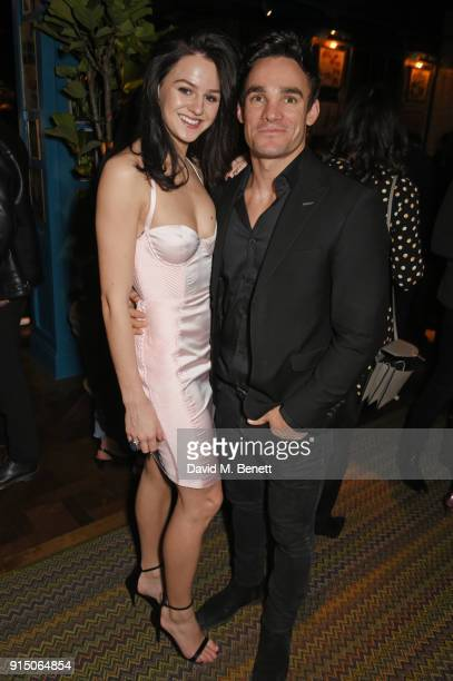 Lauren Jamieson and Max Evans attend the InStyle EE Rising Star Party at Granary Square on February 6 2018 in London England