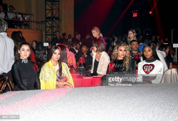 Lauren Jauregui Ally Brooke Dinah Jane and Normani Kordei of band Fifth Harmony attend the Philipp Plein fashion show during New York fashion Week at...