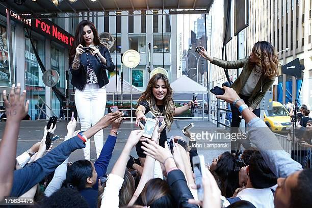 Lauren Jauregui Ally Brooke Hernandez and Dinah Jane Hansen perform during FOX Friends All American Concert Series outside of FOX Studios on August 5...