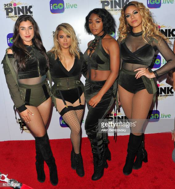 Lauren Jauregui Ally Brooke Hernandez Normani Kordei and Dinah Jane Hansen of Fifth Harmony attend the iGolive Launch Event at the Beverly Wilshire...
