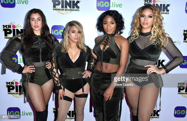 Lauren Jauregui Ally Brooke Hernandez Normani Kordei and Dinah Jane Hansen of Fifth Harmony arrives at the iGolive Launch Event at the Beverly...