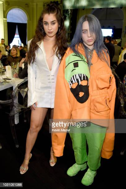 Lauren Jauregui and Billie Eilish attend the Yellow Ball hosted by American Express and Pharrell Williams at the Brooklyn Museum on September 10 2018...