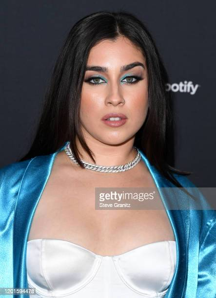 Lauren Jauregui arrives at the Spotify Best New Artist 2020 Party at The Lot Studios on January 23 2020 in Los Angeles California