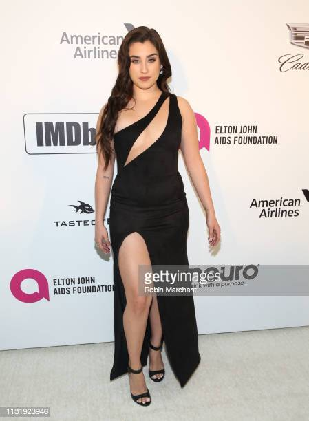 Lauren Jauregui attends 27th Annual Elton John AIDS Foundation Academy Awards Viewing Party Celebrating EJAF And The 91st Academy Awards on February...