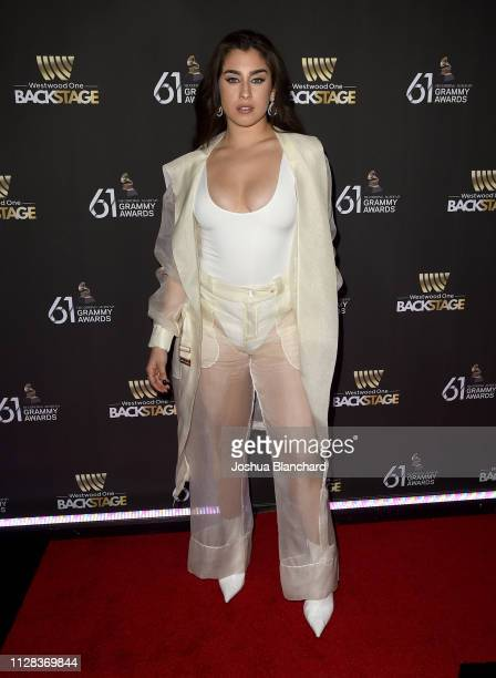 Lauren Jauregui attends the Westwood One Radio Roundtables during the 61st Annual GRAMMY Awards at Lexus Lounge on February 08 2019 in Los Angeles...