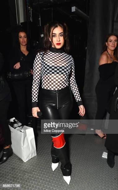 Lauren Jauregui attends Z100's Jingle Ball 2017 backstage on December 8 2017 in New York City